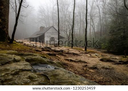 Early pioneer's cabin, Gatlinburg, Tennessee. #1230253459