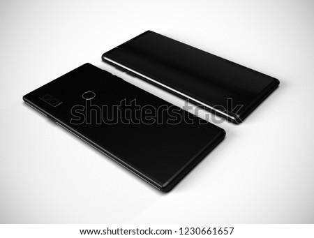 Smartphone Mobile Phone Black 3D Render #1230661657