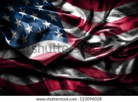 Dark USA flag
