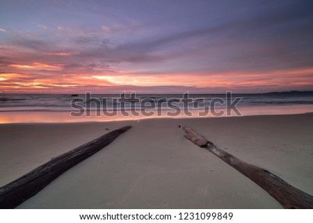 Beautiful sunset on the ocean, natural composition. #1231099849