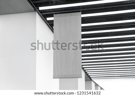 Flag hanging from the ceiling