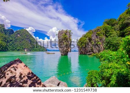 Phuket island at Phang Nga Thailand #1231549738