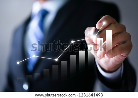 Businessman plan the growth. Investment with financial chart, Growth and successful concept. #1231641493
