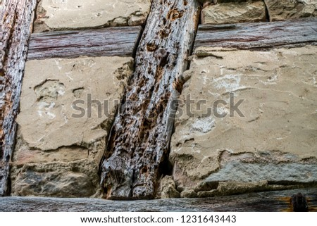 Damages on a half timbered house #1231643443