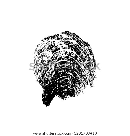 Black And White Distressed Grunge Brush Stroke Template. Black Paint Vector Texture. Dirty Creative Design Overlay Elements #1231739410