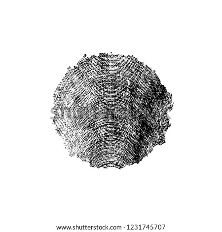 Black And White Distressed Grunge Brush Stroke Template. Black Paint Vector Texture. Dirty Creative Design Overlay Elements #1231745707