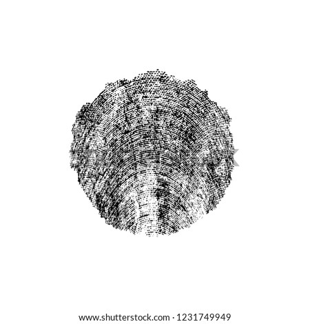 Black And White Distressed Grunge Brush Stroke Template. Black Paint Vector Texture. Dirty Creative Design Overlay Elements #1231749949