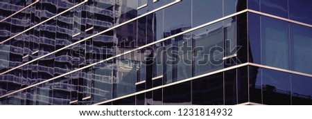 Digitally altered view of modern office building #1231814932