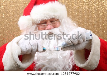 Santa Claus. Santa shows you how to Brush Your Teeth. Santa wants you to brush your teeth for Christmas. #1231977982