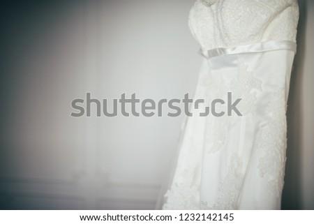 Wedding dress hanging #1232142145