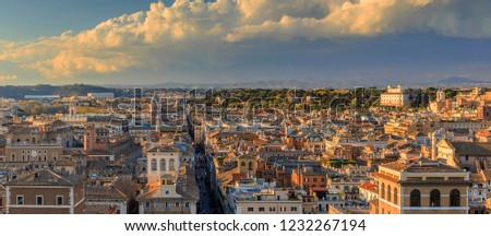 Panorama of the historical part of Rome.Italy #1232267194