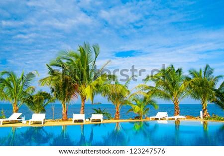 Fancy Hotel Swimming Space #123247576