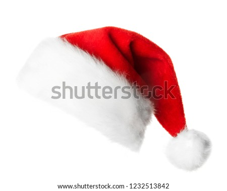 Santa Claus red hat isolated on white background #1232513842