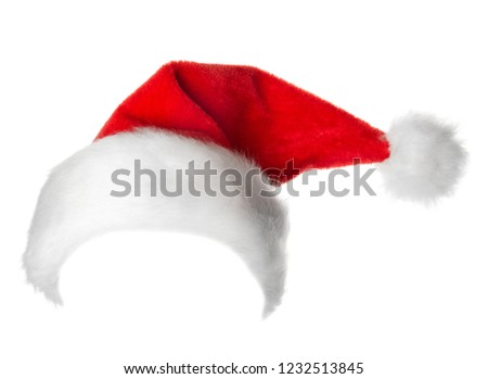 Santa Claus red hat isolated on white background #1232513845
