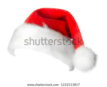 Santa Claus red hat isolated on white background #1232513857