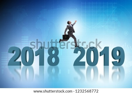 Concept of transition between 2018 and 2019 #1232568772