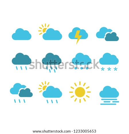 collection weather icon logo #1233005653