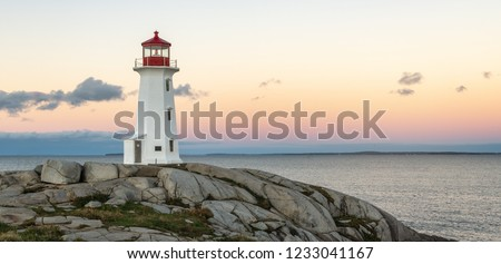 Peggys Cove Lighthouse Royalty-Free Stock Photo #1233041167