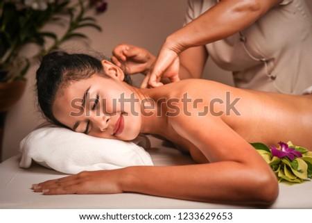 Thai spa herbal massage. #1233629653