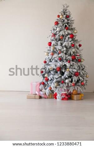 Christmas new year tree apartment holidays greeting card