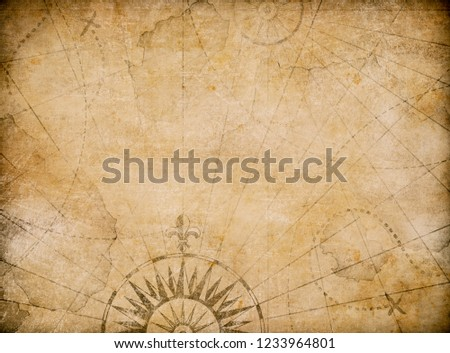 medieval old nautical map background #1233964801