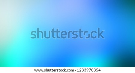 Blue gradient blurred pattern. Wonderful sky lights defocus background. Clear sky flares texture. Precious abstract illustration. Magical sea water backdrop. Winter holiday fabolous decor. #1233970354