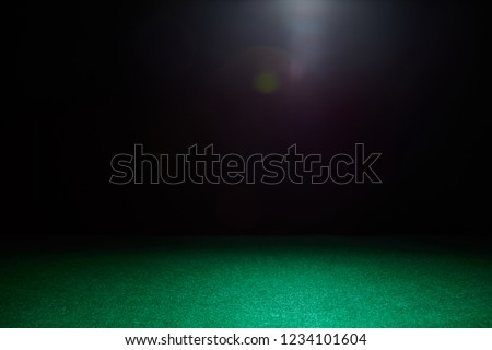 Empty gambling table in green colors. Light effect. Royalty-Free Stock Photo #1234101604
