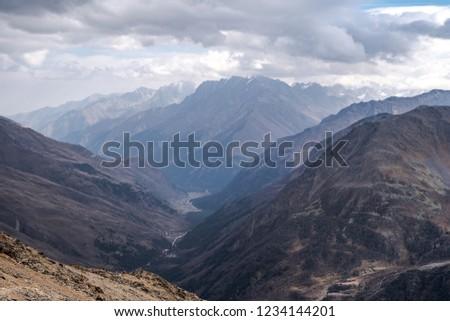 The mountains in the Georgia of autumn. #1234144201