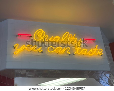 Quality You Can Taste Neon Sign Light