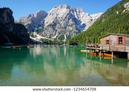 Braies lake, Trentino #1234654708
