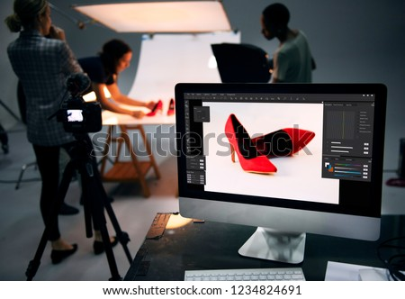 Product photography shoot of shoes Royalty-Free Stock Photo #1234824691