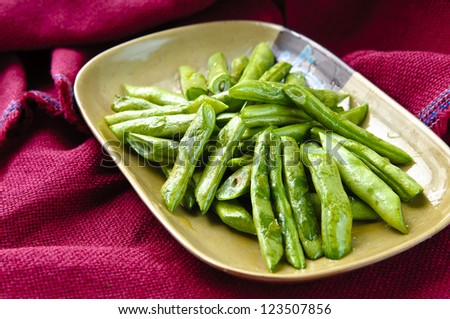 dish of green beans #123507856