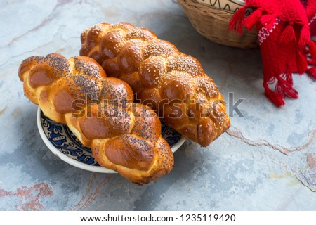 Braided bread eastern europe Royalty-Free Stock Photo #1235119420