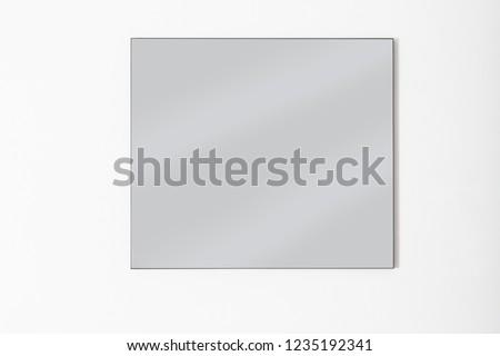 modern design minimalist black frame mirror #1235192341