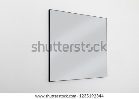modern design minimalist black frame mirror #1235192344