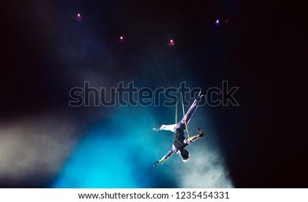Air acrobat in the circus. #1235454331
