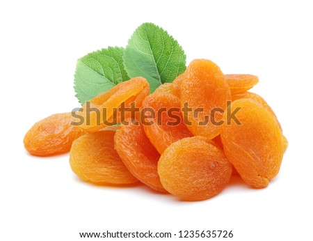 dried apricots isolated on white background #1235635726