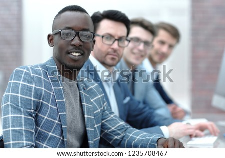 portrait of an international business team #1235708467