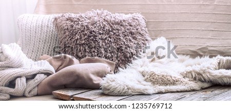 Home comfort, living room with sofa and interior details, homely atmosphere and comfort concept Royalty-Free Stock Photo #1235769712