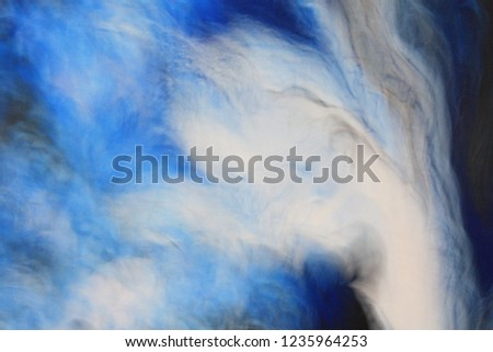 Abstract Texture Background Blur Bokeh Acrylic Painting #1235964253