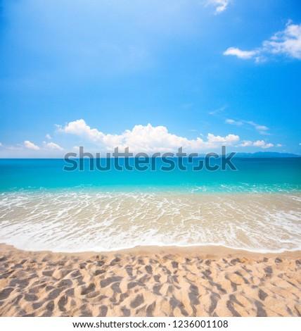 beach and beautiful tropical sea #1236001108