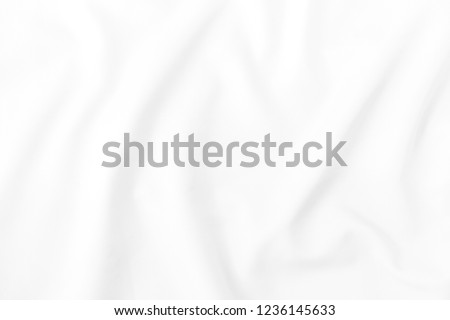 The luxury of white fabric texture background, White fabric with high resolution #1236145633