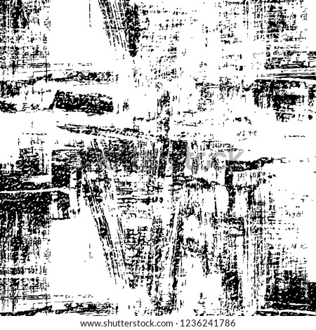 Abstract grunge texture, black and white design #1236241786