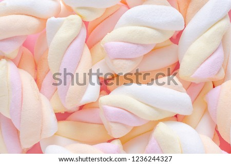 marshmallow pattern background, pastel color dessert, sweet food #1236244327