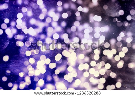 Vintage Magic Background With Color Festive background with natural bokeh and bright golden lights. #1236520288