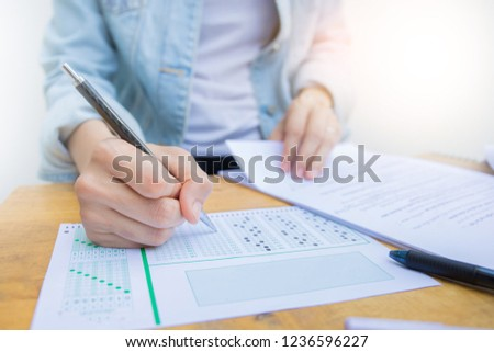 high school,college,university student study in class.examiner testing in examination room.concept for scholarship to study abroad.world international education learning,research for new knowledge #1236596227