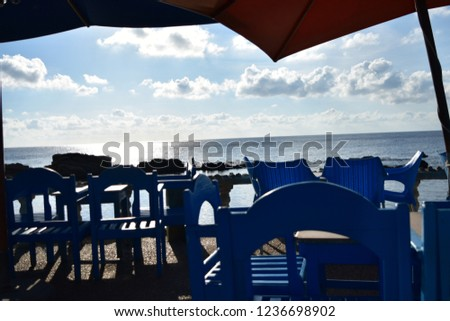 Coffee Shop Bar Counter Cafe Restaurant Relaxation Concept  #1236698902