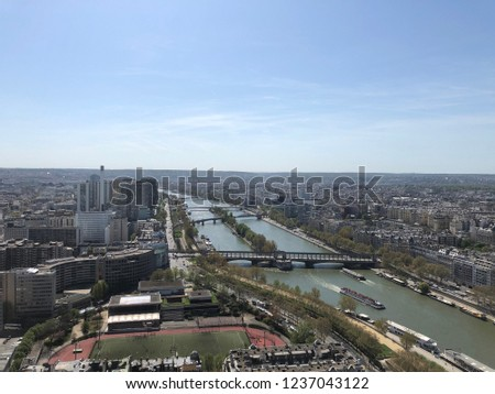 View of Paris from Eiffel Tower Lookout #1237043122