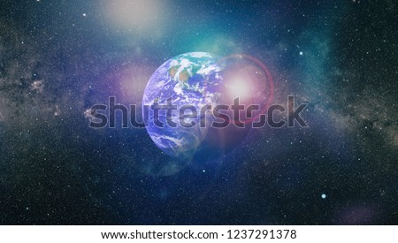 Planet Earth. Eastern hemisphere. This image elements furnished by NASA. #1237291378