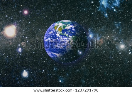Planet Earth. Eastern hemisphere. This image elements furnished by NASA. #1237291798